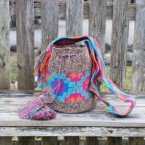 Authentic Nuanced Wayuu Mochila Bag